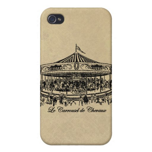 French Carousel Horses Apparel and Gifts iPhone 4 Covers