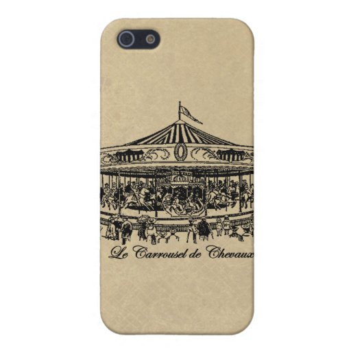 French Carousel Horses Apparel and Gifts iPhone 5 Cases