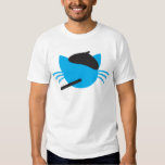 French Cat in a beret and a cigarette T-shirts