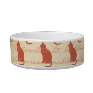 French Cat Paris Cat Food Dish Pet Food Bowls