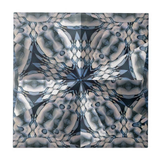 French Celtic Kaleidoscope Small Square Tile
