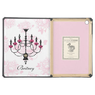 French Chandelier Pink Floral Garden iPad Air Covers
