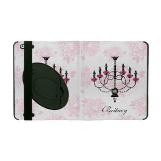 French Chandelier Pink Floral Garden iPad Covers