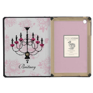 French Chandelier Pink Floral Garden iPad Mini Retina Case