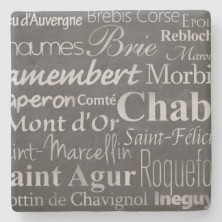 french cheese chalkboard stone beverage coaster