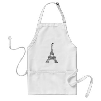 French Chef Eiffel Tower Tourist Landmark Paris Standard Apron