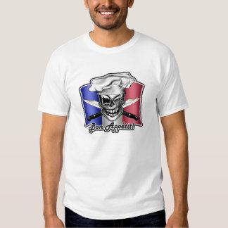 French Chef Skull: Bon Appetit! Tees