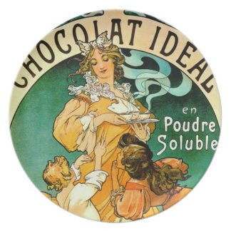French Chocolate Ad c1895 Dinner Plate