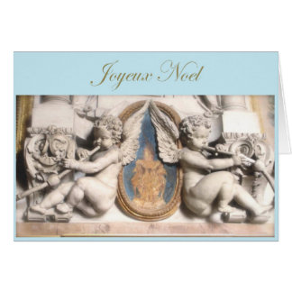 French Christmas Joyeux Noel with cherubs Card
