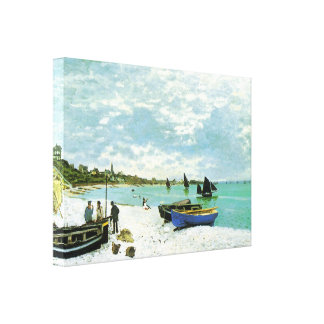 French Coastal Village Wrapped Canvas Canvas Prints
