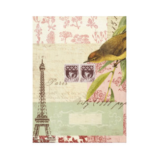 French Collage Canvas Print