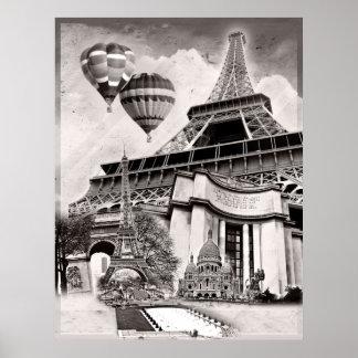 French Collage V1 Print