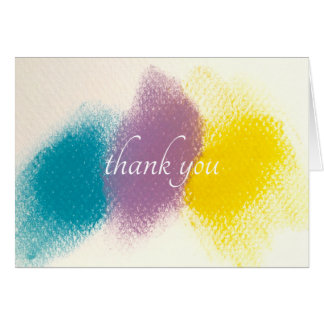 French Color-Graphic Thank You Note Card