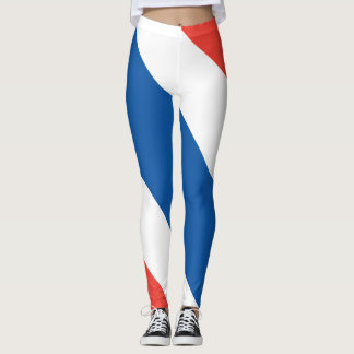 French Colors French Flag Leggings