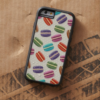 French Cookies, Macarons, Polka Dots - Blue Green Tough Xtreme iPhone 6 Case