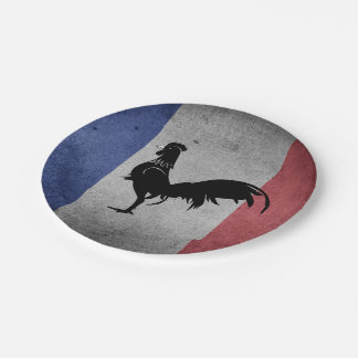 French coq paper plate