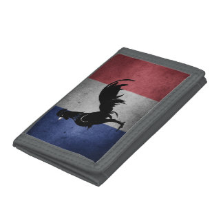 French coq trifold wallet