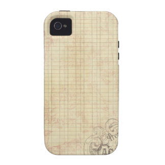 French Corner Stamped Ledger Vibe iPhone 4 Cases