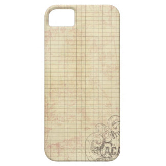 French Corner Stamped Ledger iPhone 5 Covers