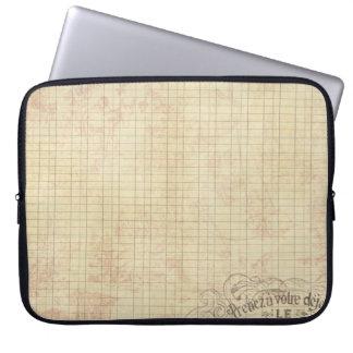 French Corner Stamped Ledger Laptop Sleeve