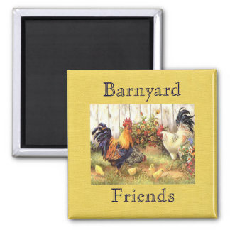 French Country Barnyard Friends Fridge Magnet