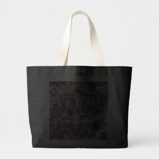 French Country Black Toile Jumbo Tote Bag