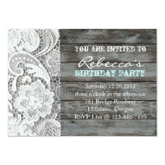 french country chic barn wood and lace card