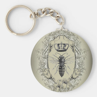 french country chic victorian crown queen bee key ring