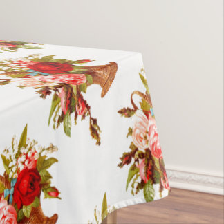 French Country Decor Rose Bouquet Tablecloth