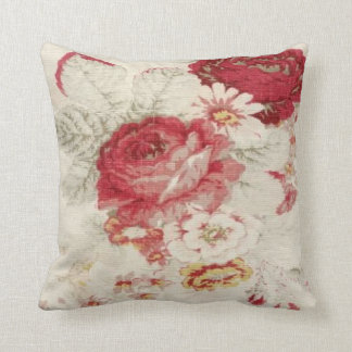 French Country Floral Print MoJo Throw Pillow