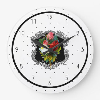 French Country Floral Wallclock