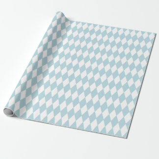 French Country Harlequin Blue & White Wrapping Paper