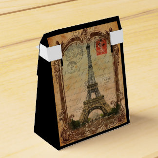 french country modern vintage paris eiffel tower favour box