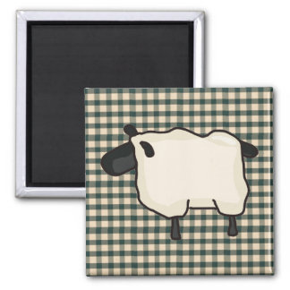 French Country Sheep Fridge Magnet