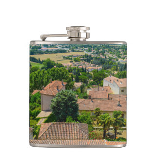 French Countryside in Provence Photograph Hip Flask