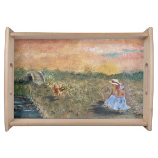 French Countryside Serving Tray