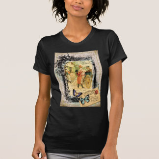French Couple in Carriage Vintage Style T Shirt