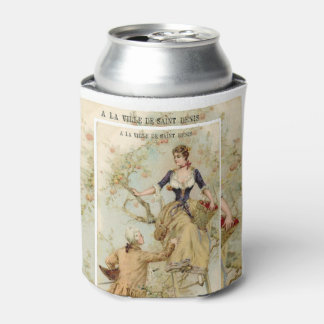 French couple plucking apples-cancooler can cooler