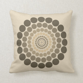 French cream brown Circle pattern pillow