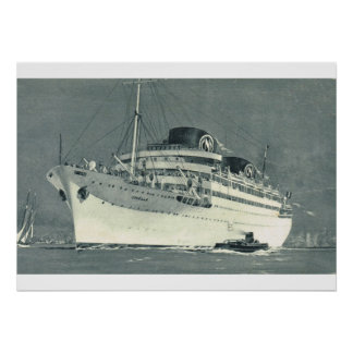 French Cruise liner Chelle Print