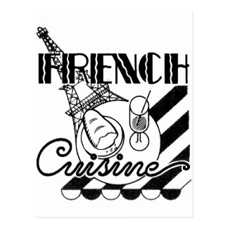French Cuisine Postcard