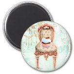 French Cupcake Victorian Style 6 Cm Round Magnet