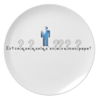 French-Daddy Party Plate