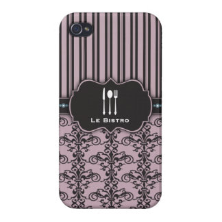 French Damask Restaurant Chef Case Covers For iPhone 4