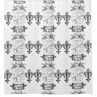 French design shower curtain