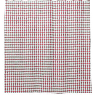 French-Diamond's-Red-White-Traditional-Bath-II Shower Curtain