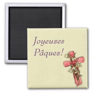 French Easter - Joyeuses Pâques! Square Magnet