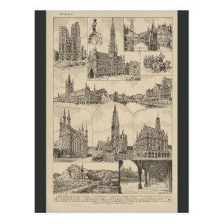 French Encyclopedia 1920, Belgium Postcard