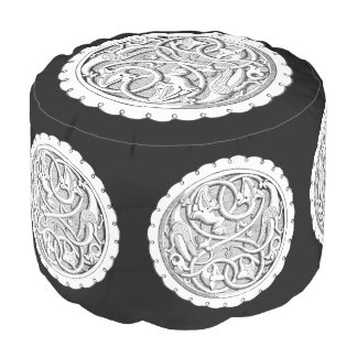 French Engraving Pouf
