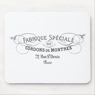 French-Fabrique vintage typography design Mouse Pad